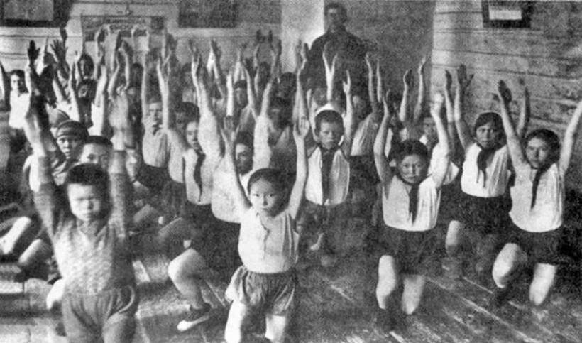 Касум ӑшкола няврємӑт 1930-мит оӆӑтн