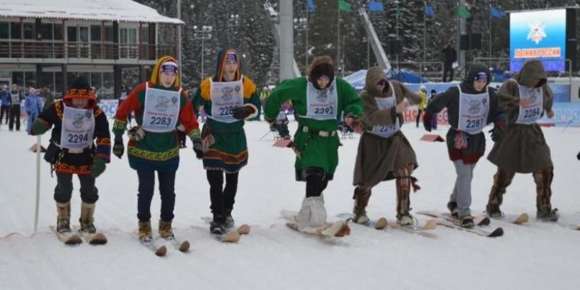 Коренные народы Югры приняли участие в «Лыжне России»