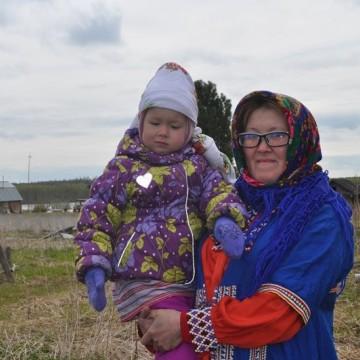 Ирина Молданова с внучкой